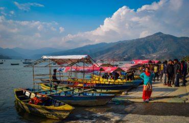 boats by the Phewa lake
